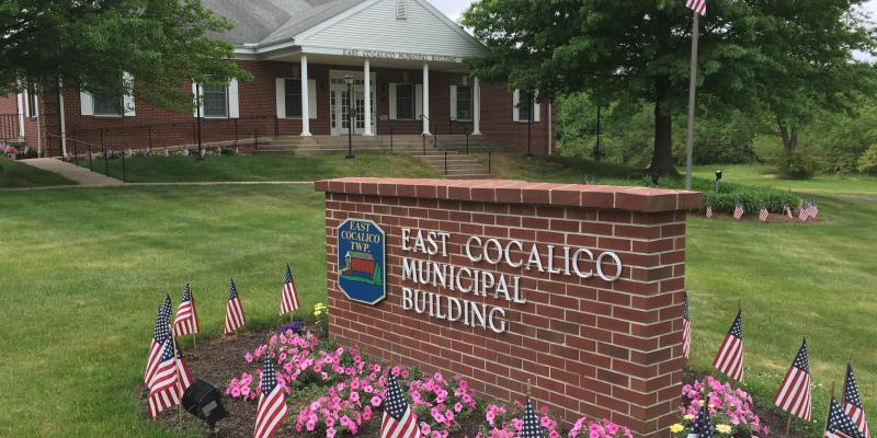 Township Municipal Building on Memorial Day Weekend