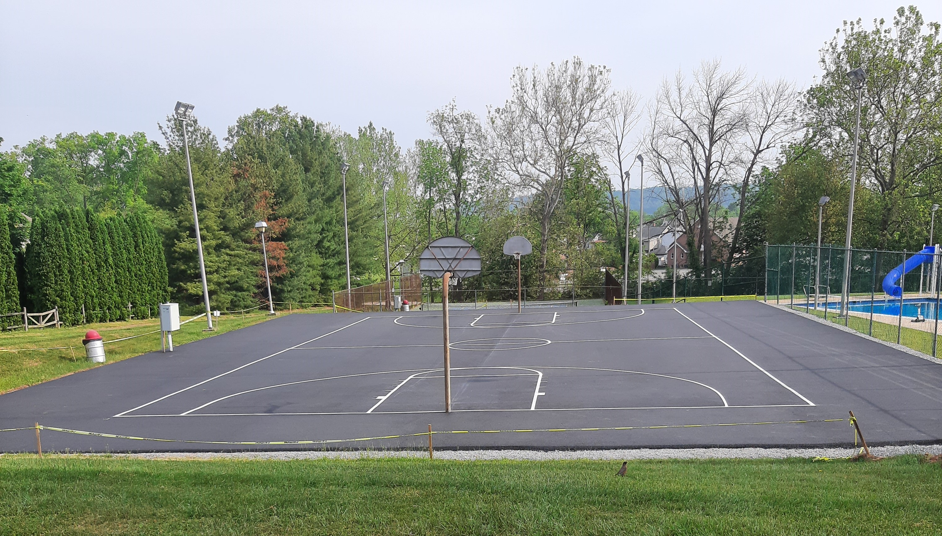 BB Court striping and repaved